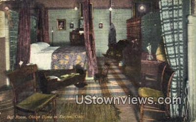 Bed Room, Oldest House in Dayton - Ohio OH Postcard