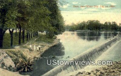 Dam, White City  - Dayton, Ohio OH Postcard