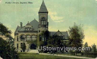 Public Library - Dayton, Ohio OH Postcard