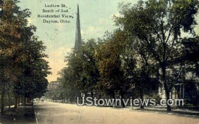 Ludlow St - Dayton, Ohio OH Postcard