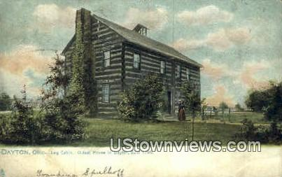 Log Cabin 1796 - Dayton, Ohio OH Postcard