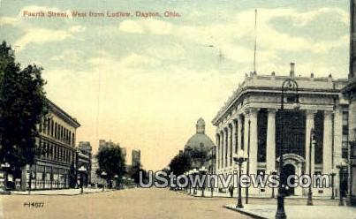 Fourth Street - Dayton, Ohio OH Postcard