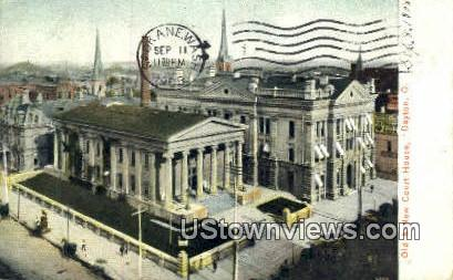 Old & New Court Houses - Dayton, Ohio OH Postcard