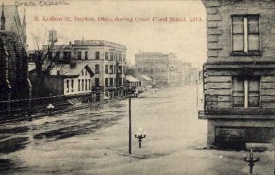 S. Ludlow St. - Dayton, Ohio OH Postcard