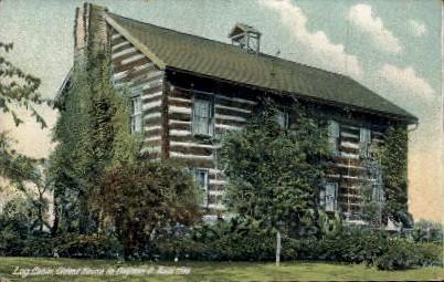 Log Cabin - Dayton, Ohio OH Postcard