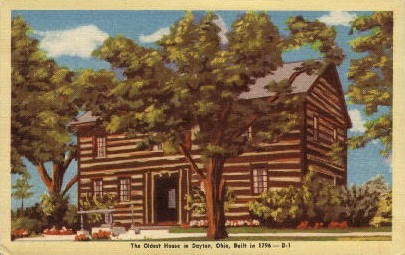 The Oldest House in Dayton - Ohio OH Postcard