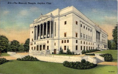 The Masonic Temple - Dayton, Ohio OH Postcard