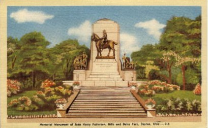 John Henry Patterson Monument - Dayton, Ohio OH Postcard