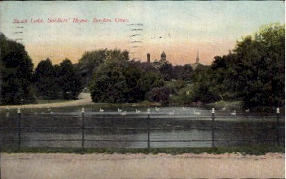 Swan Lake, Soldiers' Home - Dayton, Ohio OH Postcard