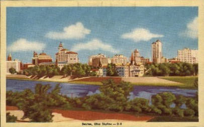 Skyline - Dayton, Ohio OH Postcard