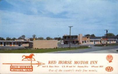 Red Horse Motor Inn - Dayton, Ohio OH Postcard