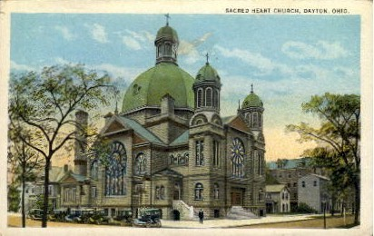 Sacred Heart Church - Dayton, Ohio OH Postcard