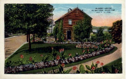 Oldest House in Dayton - Ohio OH Postcard