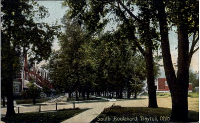 South Boulevard - Dayton, Ohio OH Postcard
