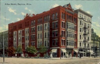 Atlas Hotel - Dayton, Ohio OH Postcard