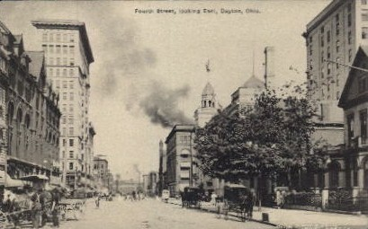 Fourth Street - Dayton, Ohio OH Postcard