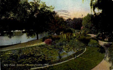 Lily Pond, Soldiers' Home - Dayton, Ohio OH Postcard
