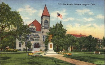 The Public Library - Dayton, Ohio OH Postcard