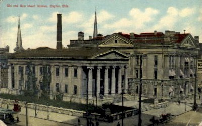 Old and New Court Houses - Dayton, Ohio OH Postcard