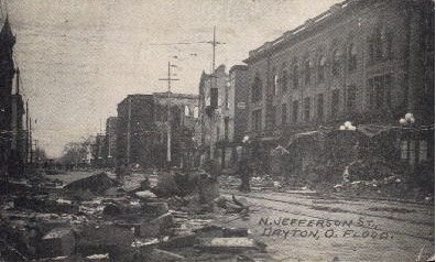 N. Jefferson St. - Dayton, Ohio OH Postcard