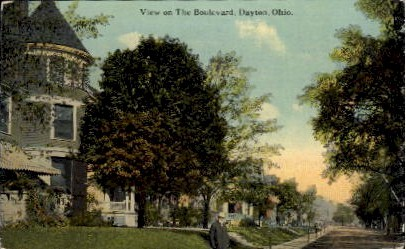 The Boulevard - Dayton, Ohio OH Postcard