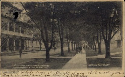 Connecticut Avenue, Soldiers' Home - Dayton, Ohio OH Postcard