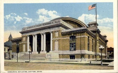 Memorial Building - Dayton, Ohio OH Postcard