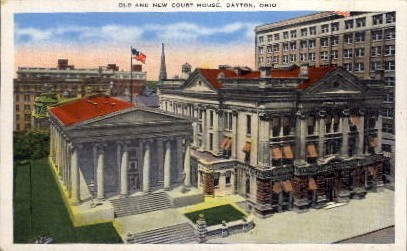 Old and New Court House - Dayton, Ohio OH Postcard