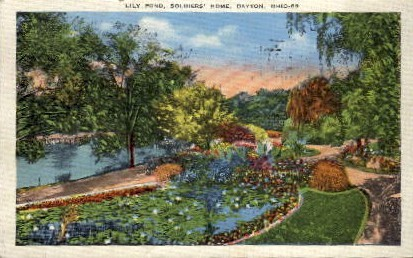 Lily Pond - Dayton, Ohio OH Postcard