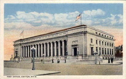 Post Office - Dayton, Ohio OH Postcard