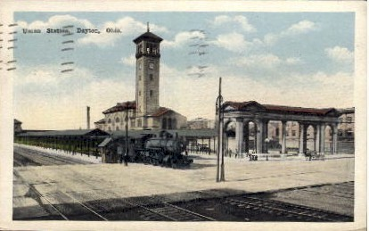 Union Station - Dayton, Ohio OH Postcard