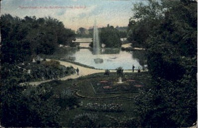 Tropical Gardens and Lake - Dayton, Ohio OH Postcard