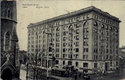Algonquin Hotel - Dayton, Ohio OH Postcard