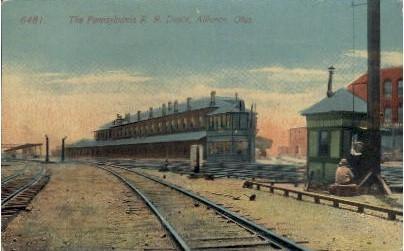 The Pennsylvania R. R. Depot - Alliance, Ohio OH Postcard