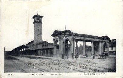 Union Depot - Dayton, Ohio OH Postcard