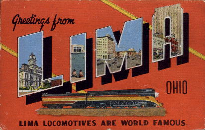 Greetings From - Lima, Ohio OH Postcard