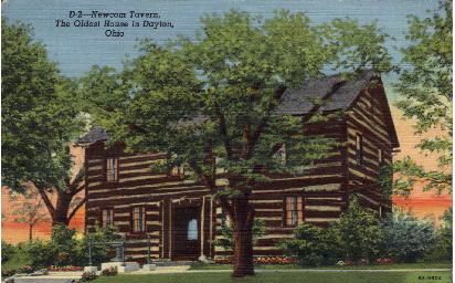 Newcom Tavern, The Oldest House in Dayton - Ohio OH Postcard
