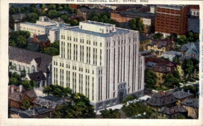 Ohio Bell Telephone Building - Dayton Postcard