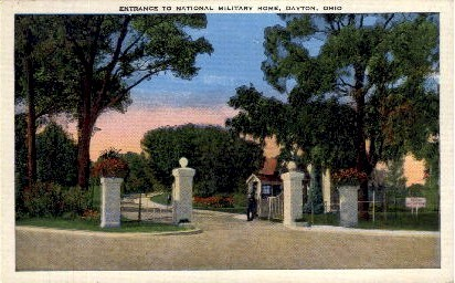 Entrance to National Military Home - Dayton, Ohio OH Postcard