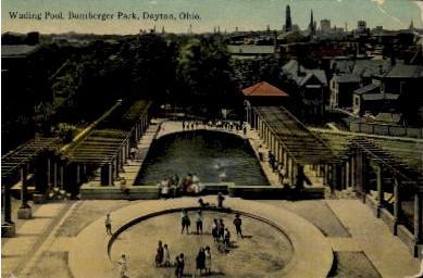 Wading Pool, Bomberger Park - Dayton, Ohio OH Postcard