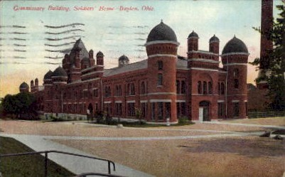 Commissary Building, Soldiers' Home - Dayton, Ohio OH Postcard