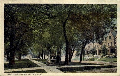 North Boulevard - Dayton, Ohio OH Postcard
