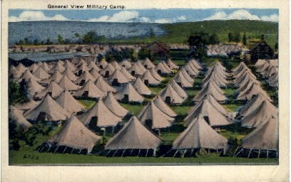 General View Military Camp - Dayton, Ohio OH Postcard