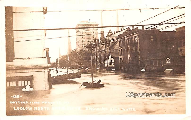 Flood March 25, 1913 - Dayton, Ohio OH Postcard