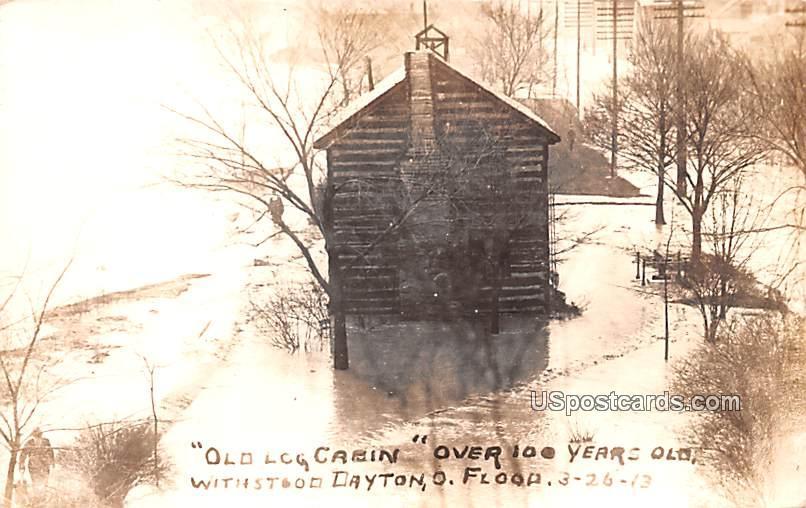 Old Log Cabin - Dayton, Ohio OH Postcard