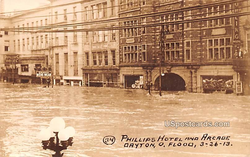 Phillips Hotel and Arcade - Dayton, Ohio OH Postcard