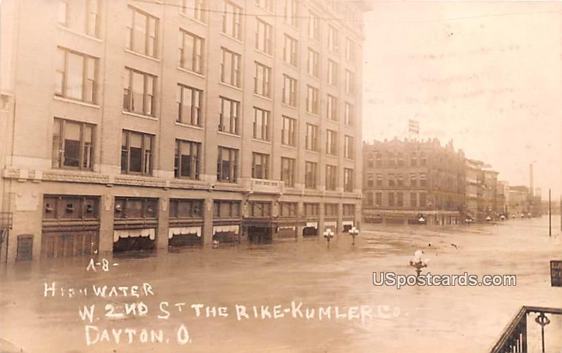 High Water - Dayton, Ohio OH Postcard