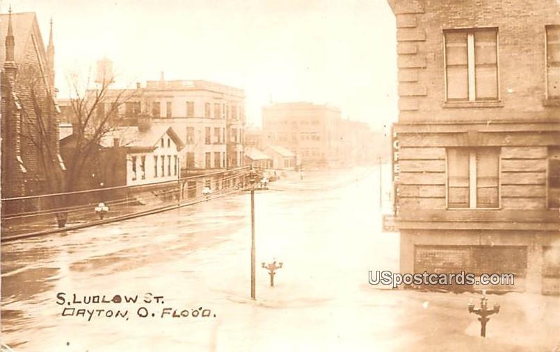 South Ludlow Street - Dayton, Ohio OH Postcard