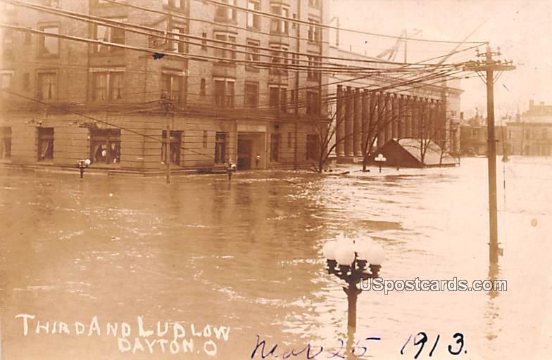 Third And Ludlow - Dayton, Ohio OH Postcard