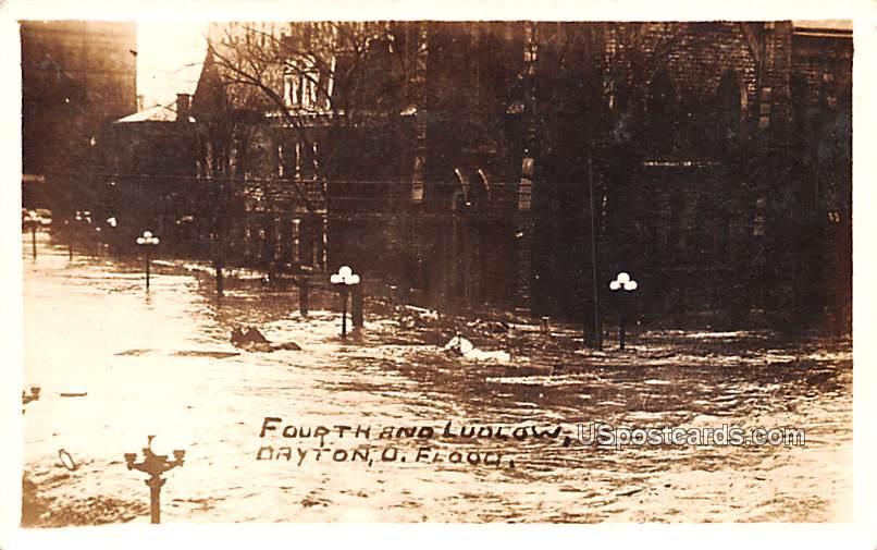 Fourth and Ludlow - Dayton, Ohio OH Postcard